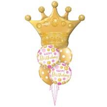 Golden Crown - foil balloon
