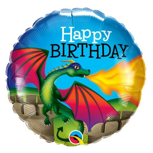 Birthday Mythical Dragon - foil balloon