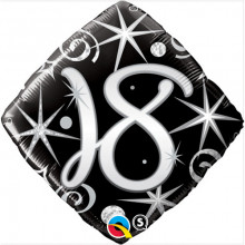 Elegant Sparkles & Swirls 18 - foil balloon