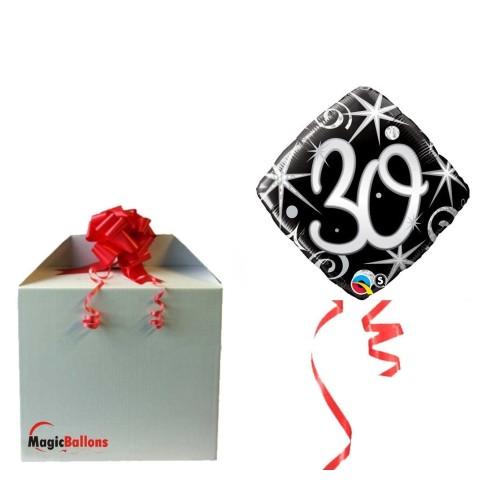 Elegant Sparkles & Swirls 30 - foil balloon