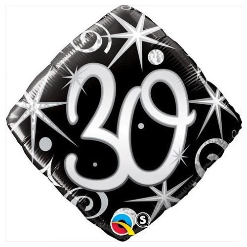Elegantne iskrice & swirls 30 - folija balon