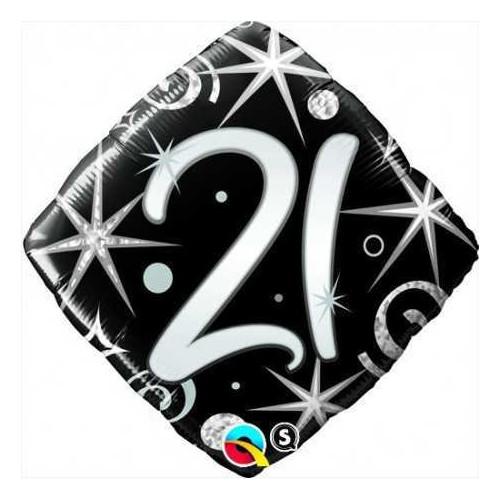 Elegant Sparkles & Swirls 21 - foil balloon