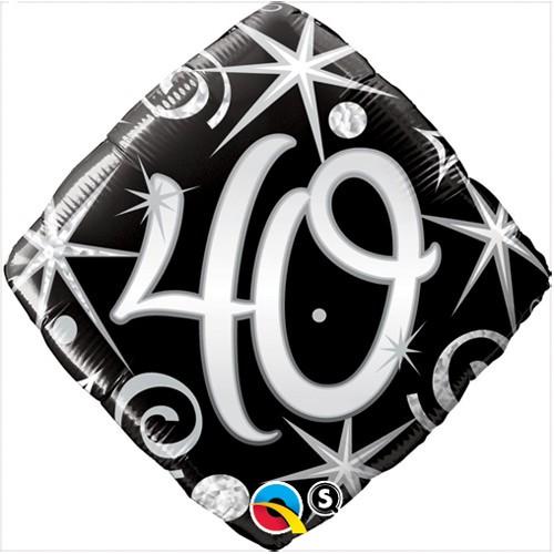 Elegant Sparkles & Swirls 40 - foil balloon