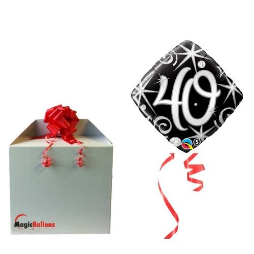 Elegant Sparkles & Swirls 40 - folija balon