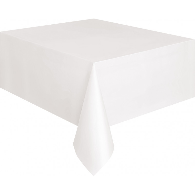 Plastic tablecover-White