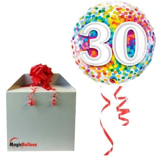 30 Mavrični konfeti - folija balon