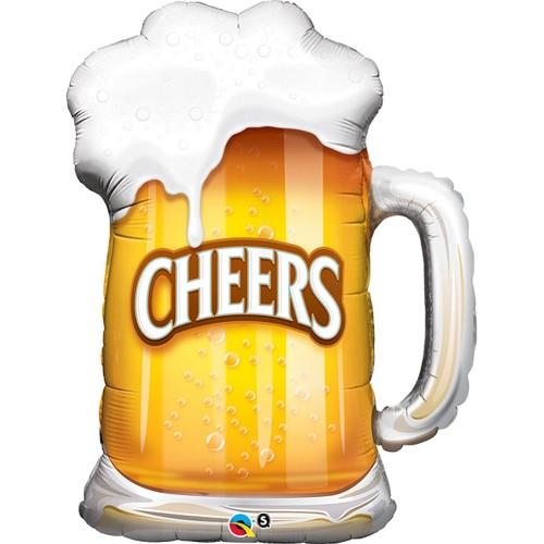 Cheers! Beer Mug - foil balloon