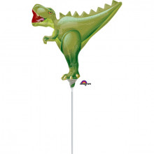 T-Rex - foil balloon on a stick