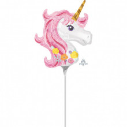 Magical Unicorn - foil balloon on a stick