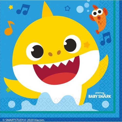 Baby Shark Servietten