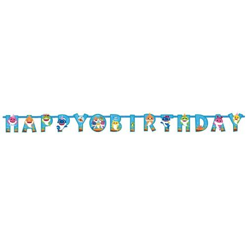 Banner Happy Birthday Baby Shark