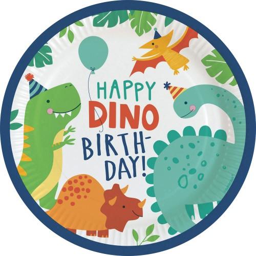 Dino paper plates 23 cm