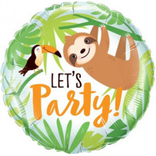 Let's Party Toucan&Sloth - foil balloon