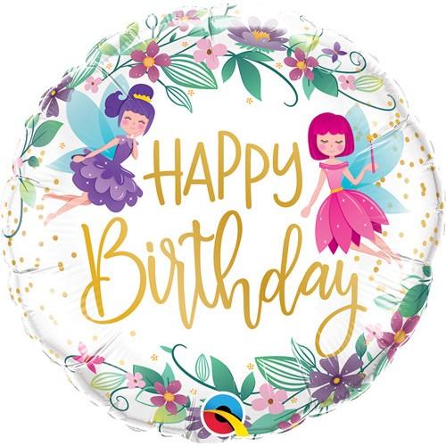 Happy Birthday Flower Fairies - Folienballon