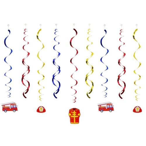 Fire Brigade swirl hanging decoration