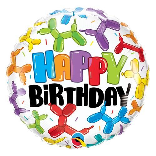 Happy Birthday Balloon Dogs - Folienballon