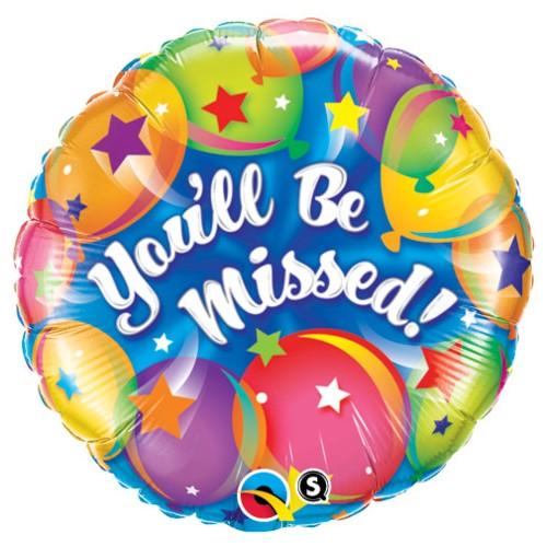 You'll Be Missed! - Folienballon