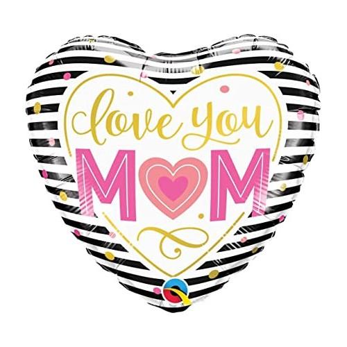 Love you MOM - foil balloon