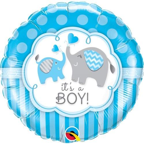It's a Boy Elephants - foil balloon