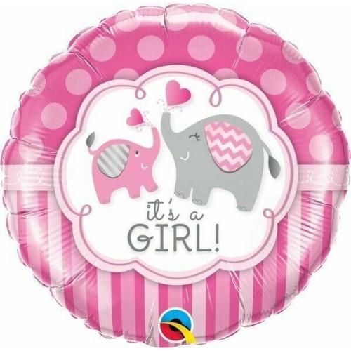 It's a Girl Elephants - foil balloon