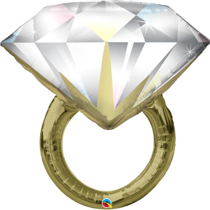 Diamond Wedding Ring - folija balon