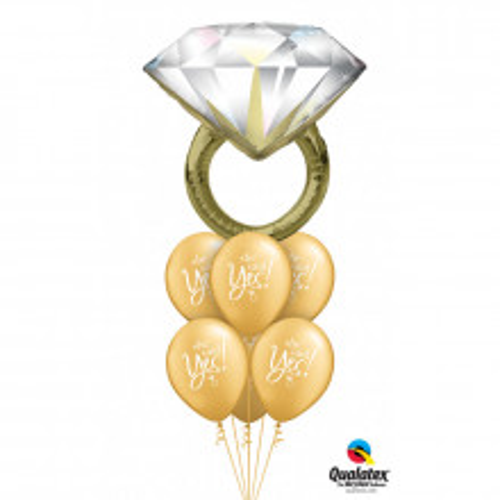 Diamond Wedding Ring - foil balloon