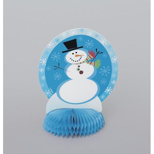 Snežak izrezan obesek