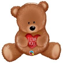 """""""I love you"""" Teddy Bear - foil balloon"""