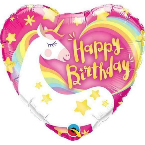 Birthday Magical Unicorn - foil balloon on a stick