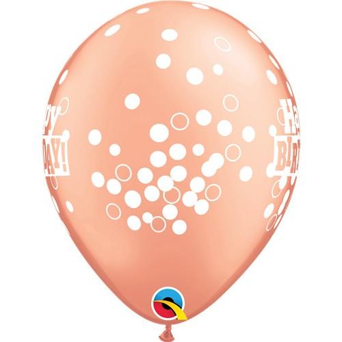 Happy Birthday Confetti dots - latex balloons