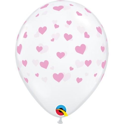 Pink Hearts - latex balloons