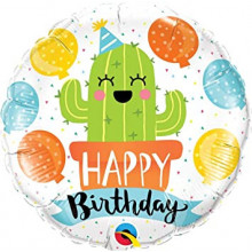 Birthday Party Cactus - foil balloon