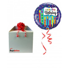 Happy Birthday Candles - foil balloon