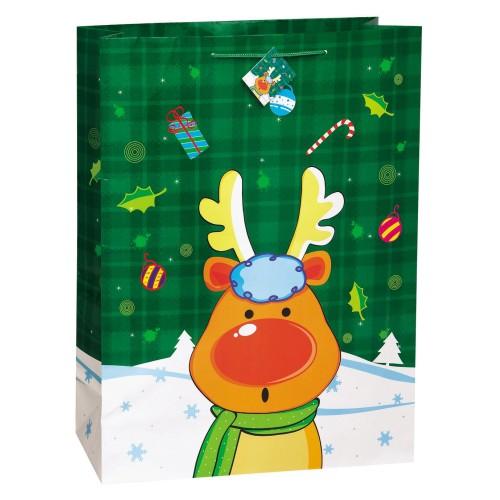 Christmas Glee gift bag -Santa