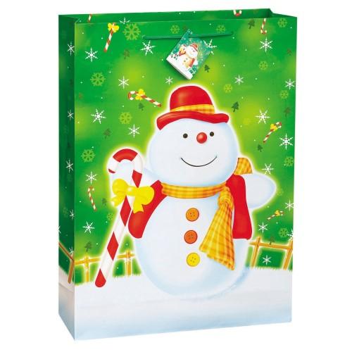 Christmas Glee gift bag -Snowman