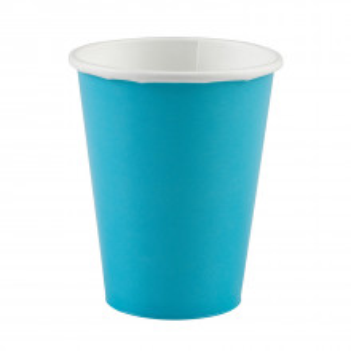 Cups 9OZ - Caribbean blue 8 pcs