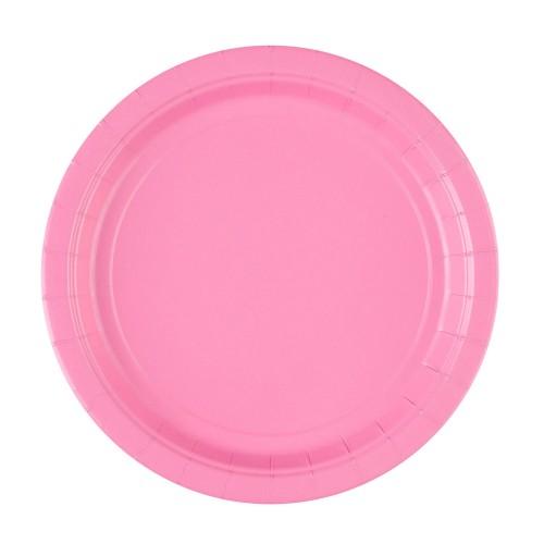 "Plates 9"" - Pink 8 pcs"