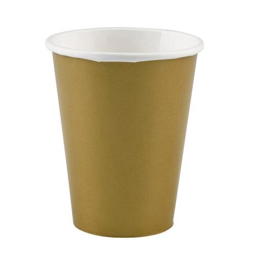 Cups 9OZ - gold 8 pcs