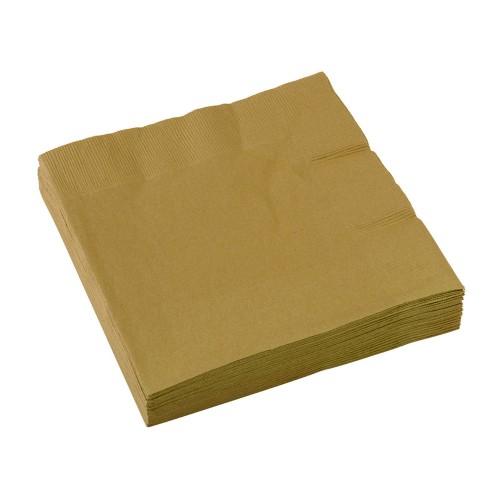 Servietten 33 x 33 cm - Gold