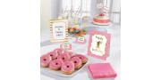 Buffet decoration set - First birthday pink party
