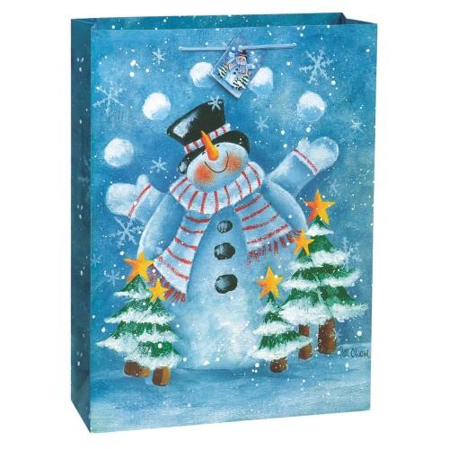 Frosty Christmas gift bag -Santa