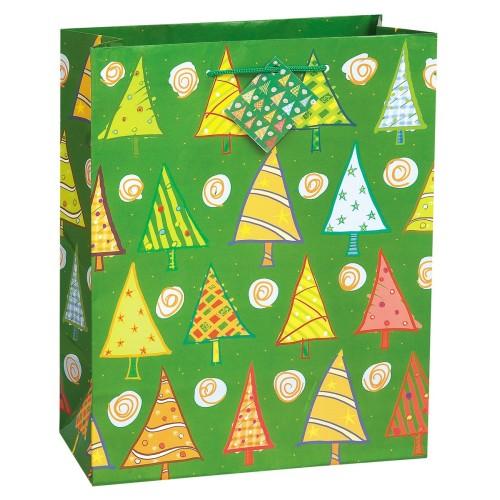 O Christmas Tree gift bag -red