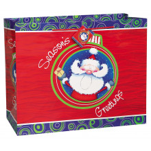 Santa's celebration gift bag