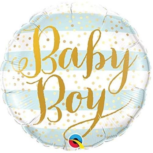 Baby Boy Blue Stripes- folija balon