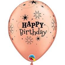 Lateks baloni 28 cm - Happy Birthday