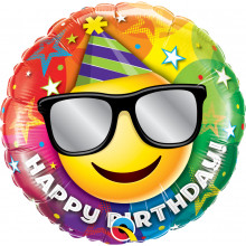 Birthday Smiley - mini foil balloon