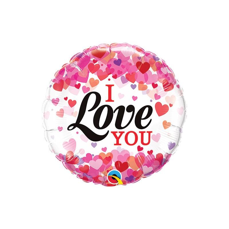 I love you - mini foil balloon