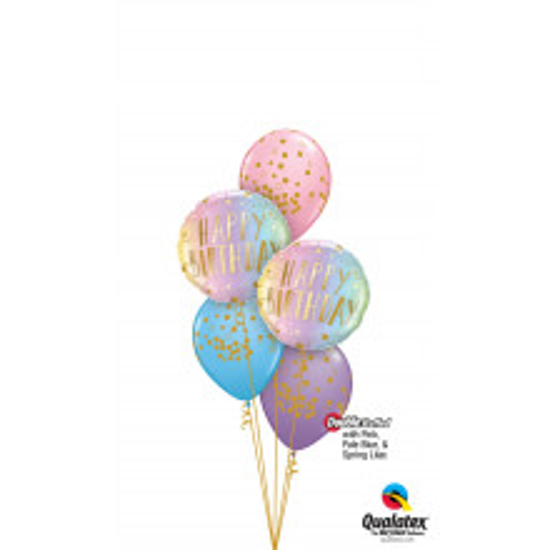Happy Birthday ombre - folija balon