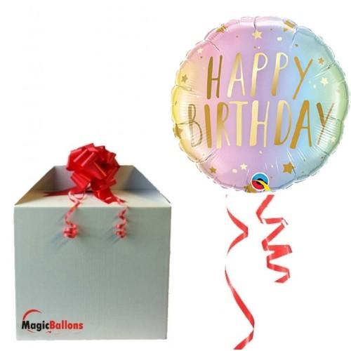 Happy Birthday ombre - foil balloon