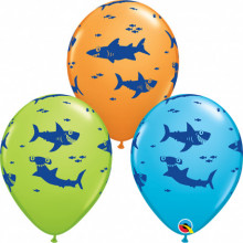 Fun Sharks! - latex balloons